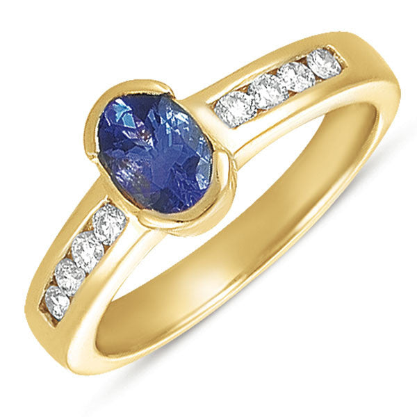 Tanzanite./diamond Ring  # C5574-T - Zhaveri Jewelers