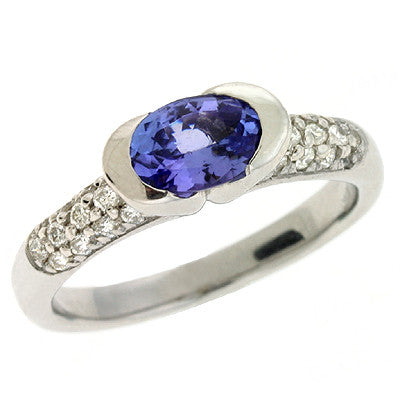 Tanzanite & Diamond Ring  # C5672-TWG - Zhaveri Jewelers