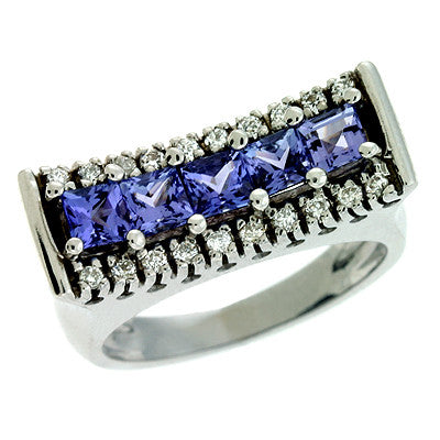 Tanzanite./diamond Ring  # C5680-TWG - Zhaveri Jewelers