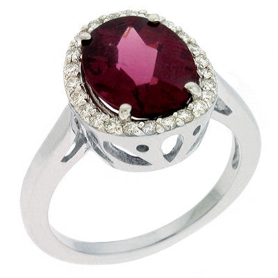 Rhodolite & Diamond Ring  # C5728-RHWG - Zhaveri Jewelers