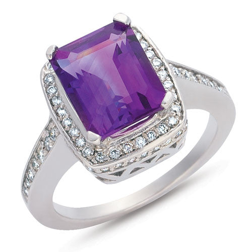 Amethyst Ring  # C5749-AWG - Zhaveri Jewelers