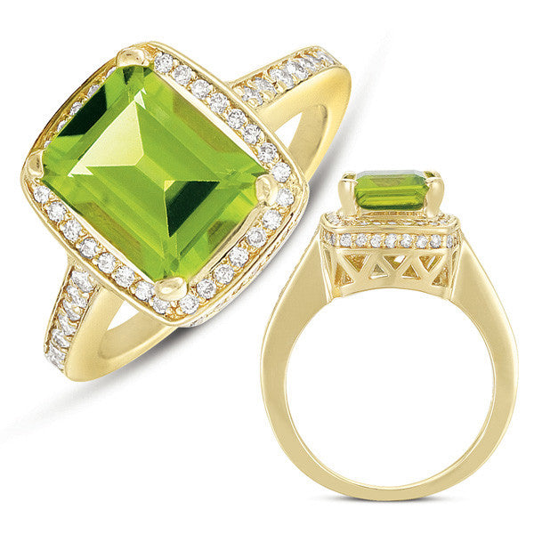 Peridot & Diamond Ring  # C5749-PYG - Zhaveri Jewelers