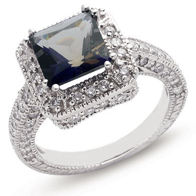 Iolite & Pave Diamond Ring  # C5755-IWG - Zhaveri Jewelers
