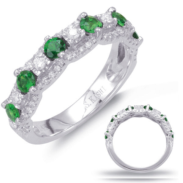 White Gold Tsavorite & Diamond Ring  # C5781-TSWG - Zhaveri Jewelers