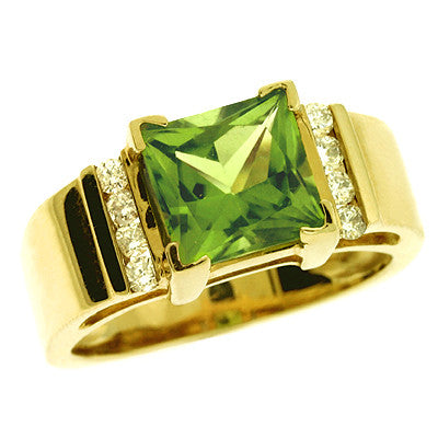 Peridot. & Diamond Ring  # CX5640-P - Zhaveri Jewelers