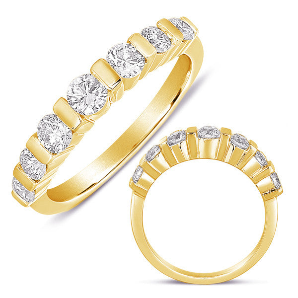 Bar Set Dome Two Tone Ring