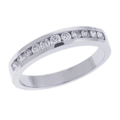 White Gold Diamond Band  # D3031WG - Zhaveri Jewelers