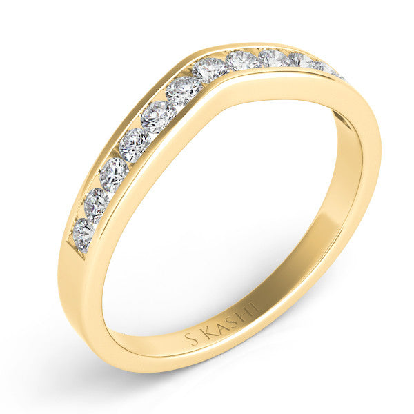 v  Shape Diamond Band  # D3060YG - Zhaveri Jewelers