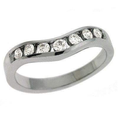 White Gold Diamond Band  # D3098WG - Zhaveri Jewelers