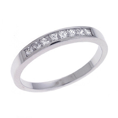 White Gold Diamond Band  # D3105WG - Zhaveri Jewelers