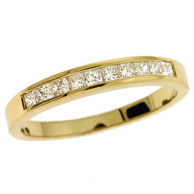 Princess Diamond Band  # D3105YG - Zhaveri Jewelers