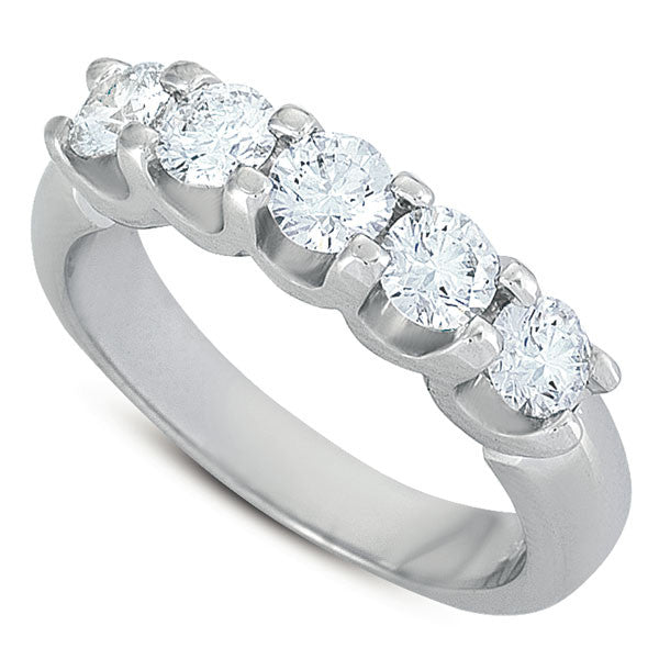 White Gold Diamond Band  # D3120WG - Zhaveri Jewelers
