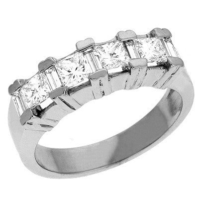 White Gold Diamond Band  # D3215WG - Zhaveri Jewelers