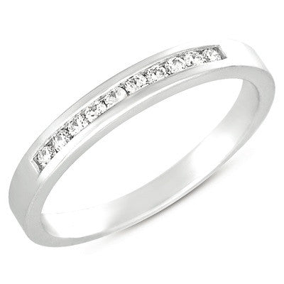 Channel Set Diamond Band  # D3277WG - Zhaveri Jewelers