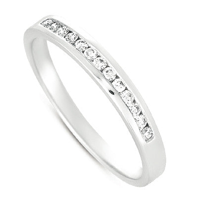 Channel Set Diamond Band  # D3278WG - Zhaveri Jewelers