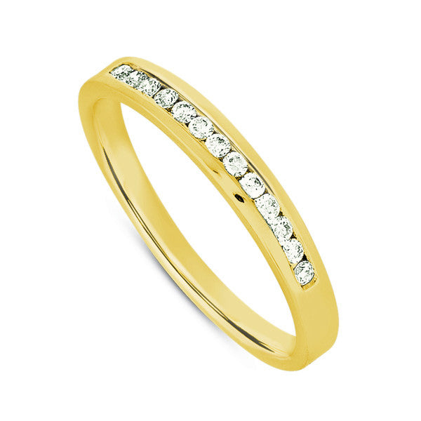 Channel Set Diamond Band  # D3278YG - Zhaveri Jewelers