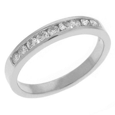 White Gold Diamond Band  # D3289WG - Zhaveri Jewelers