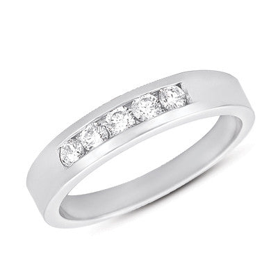 Diamond Channel Band  # D3306WG - Zhaveri Jewelers