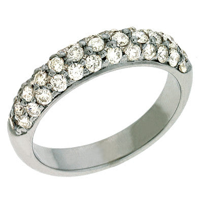 White Gold Pave Band  # D3315WG - Zhaveri Jewelers