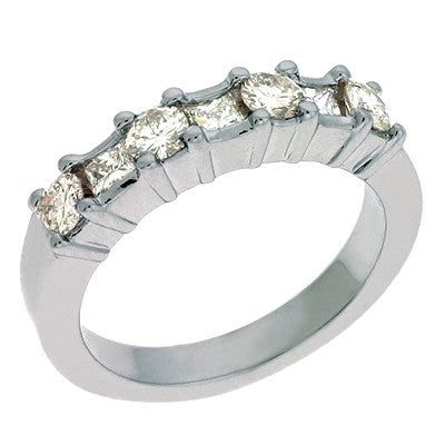 White Gold Diamond Band  # D3517WG - Zhaveri Jewelers