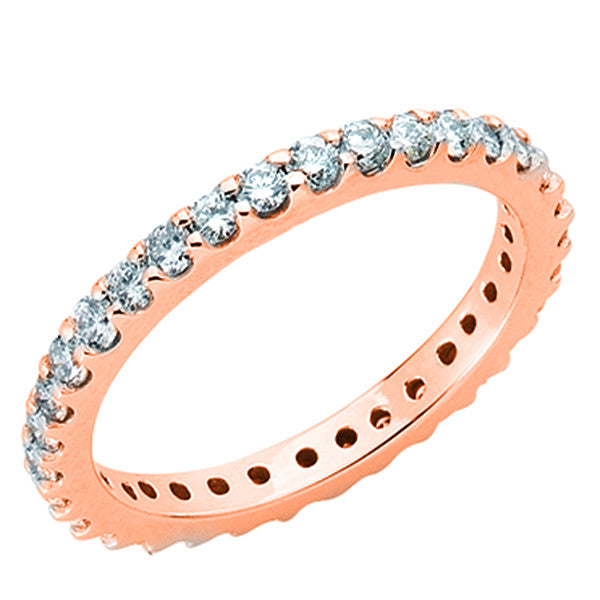 Rose Gold Eternity Band  # D3518-7RG - Zhaveri Jewelers