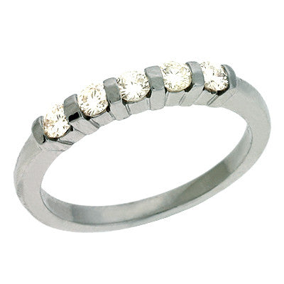 Diamond Bar Set Band  # D3530WG - Zhaveri Jewelers
