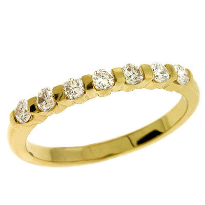 Bar Set Diamond Ring 0.36 Carats # D3536YG - Zhaveri Jewelers