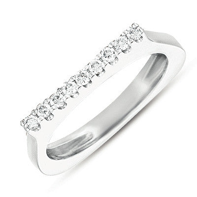 White Gold Diamond Band  # D3570WG - Zhaveri Jewelers