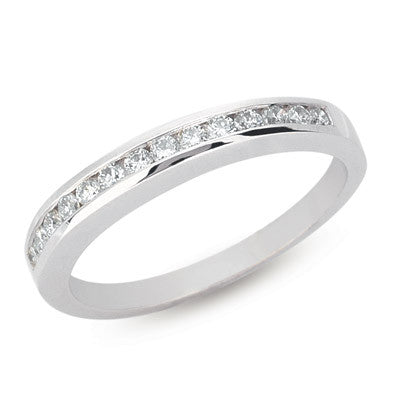 Diamond Channel Set Band  # D3572WG - Zhaveri Jewelers