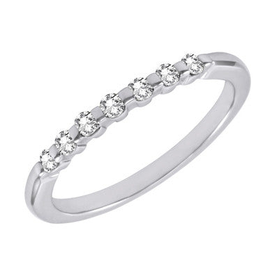 White Gold Diamond Band  # D3576WG - Zhaveri Jewelers