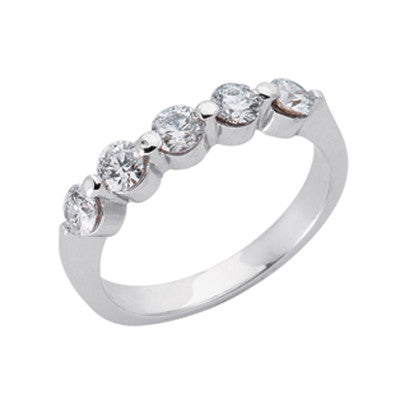 Platinum Diamond Band  # D3585-PL - Zhaveri Jewelers