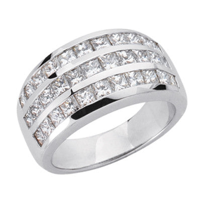 White Gold Diamond Band  # D3596WG - Zhaveri Jewelers