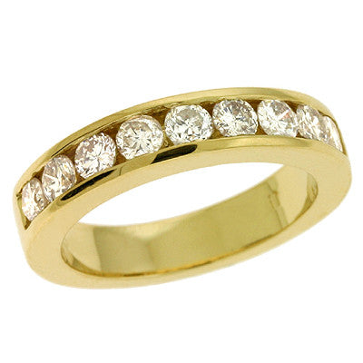 Channel Set Gold Band
