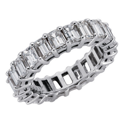 Emerald Cut Eternity Ring