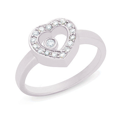 White Gold Diamond Motion Ring