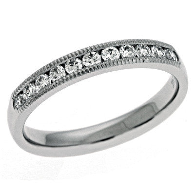 Millgrain DIamond Band
