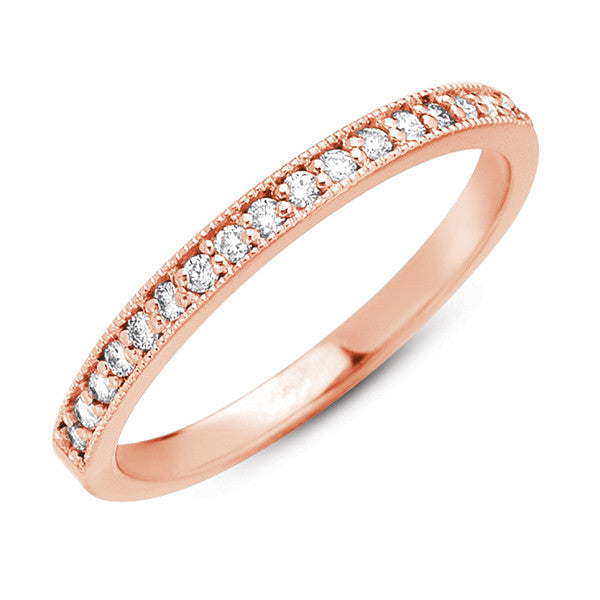 Rose Gold Millgrain Band