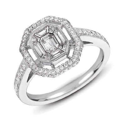 White Gold M.pave Ring