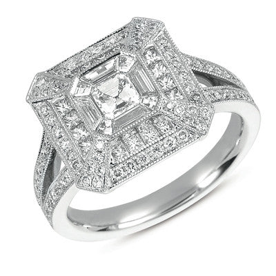 Platinum Diamond Fashion Ring