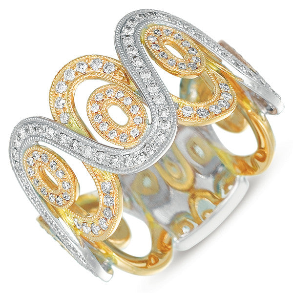 White & Yellow Gold Fashion Ring