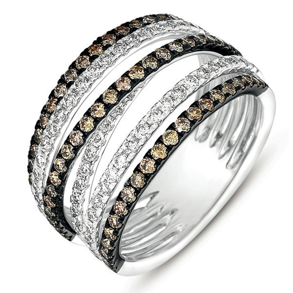 White Gold Champagne Fashion Ring