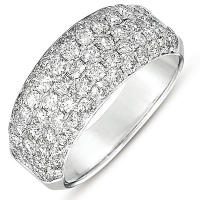 White Gold Pave Wedding Band