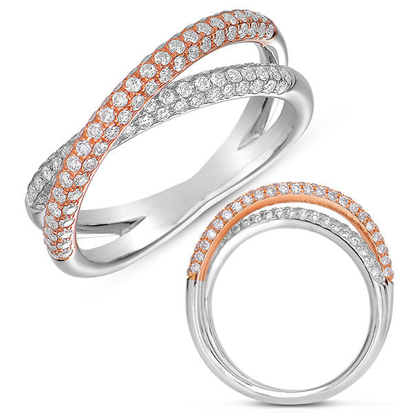 Rose & White Gold Pave Band