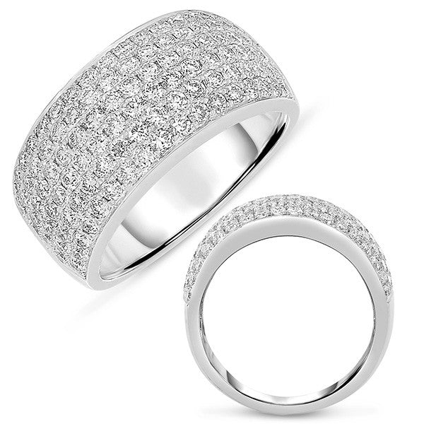 White Gold Pave Band 9.5mm wide
