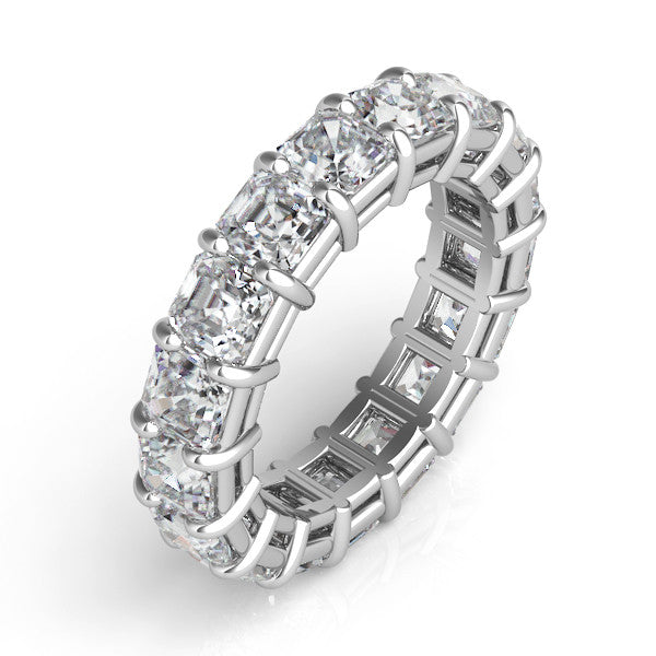 Asscher Cut Eternity Band