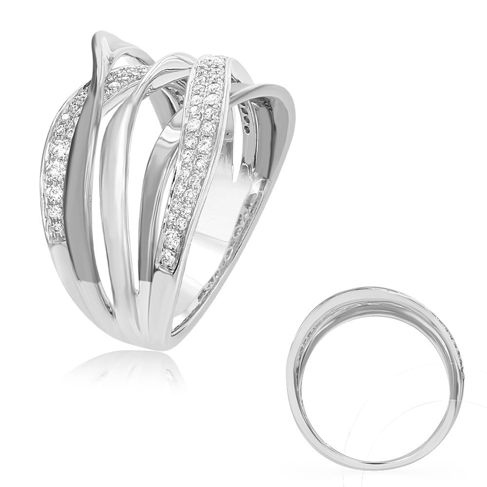 White Diamond Fashion Ring