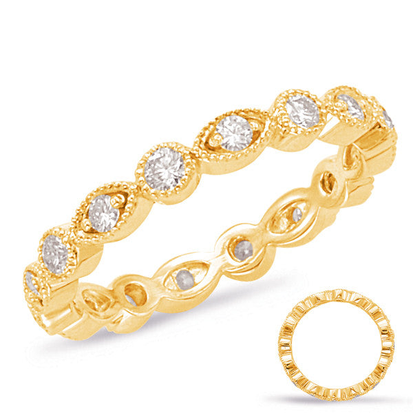 Yellow Gold Stackable Eternity Band