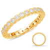 White Gold Stackable Eternity Band  # D4538WG