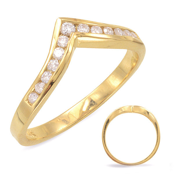 V Shape Diamond Band  # D 206YG - Zhaveri Jewelers
