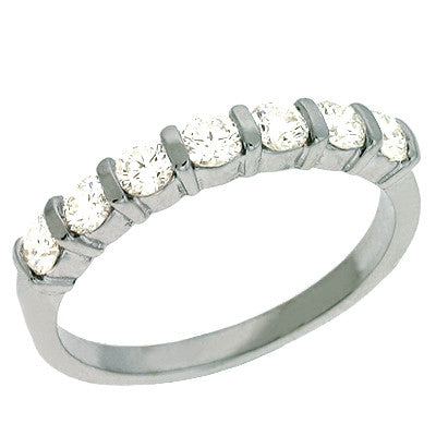 Single Row Channel Band  # D 262WG - Zhaveri Jewelers